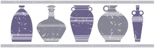 Wektorowy wizerunek z eleganckimi wazami Zdjęcie Royalty Free
