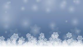 Wektorowy wizerunku tło z płatkami śniegu Obraz Royalty Free