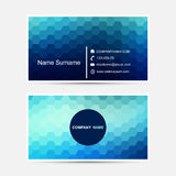 Wektorowy wizytówka szablon niebieski projektu ilustracja wektor