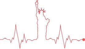 Wektorowy wolności statuy kardiogram Obrazy Stock