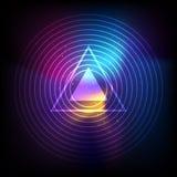 Wektorowy wszechświat fala sygnał, trójboka abstrakta tło Obraz Stock