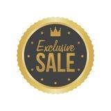 Wektorowy Wyłączny sprzedaży złota znak, Round etykietka Obrazy Royalty Free