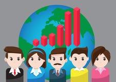 Wektorowy wykresu biznes dla praca zespołowa sukcesu royalty ilustracja