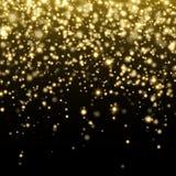Wektorowy złocisty błyskotliwość cząsteczek tła skutek royalty ilustracja