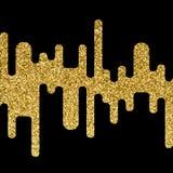 Wektorowy złocisty błyskotliwości fala abstrakta tło Zdjęcie Stock
