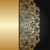 Wektorowy złocisty ornament. Zdjęcie Royalty Free