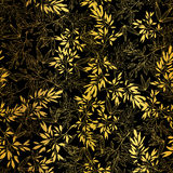 Wektorowy Złoty Czarny azjata Opuszcza Bezszwowego Deseniowego tło Wielki dla tropikalnej urlopowej tkaniny, karty, poślubia royalty ilustracja