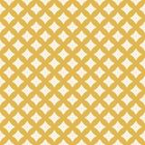 Wektorowy złoty geometryczny wzór Abstrakcjonistyczna bezszwowa tekstura z siatką, diamenty royalty ilustracja