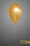 Wektorowy złocisty lotniczy balon EPS10 Fotografia Royalty Free