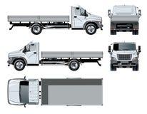 Wektorowy z platformą ciężarowy szablon odizolowywający na bielu Fotografia Royalty Free