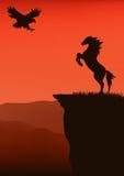 wektorowy zachodni dziki Obraz Royalty Free