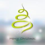 Wektorowy zaproszenie z choinką wesołych Świąt, nowego roku karty Zdjęcia Stock