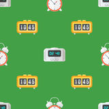 Wektorowy zegarowych zegarków bezszwowy wzór Fotografia Royalty Free