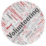 Wektorowy zgłaszać się na ochotnika, dobroczynność, humanitarysta ilustracja wektor
