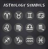Wektorowy zodiak Podpisuje Wokoło ikona Ustawiającej ilustraci Fotografia Royalty Free