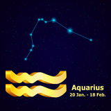 Wektorowy zodiaka znaka Aquarius Obrazy Stock