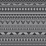 Wektorowych abstrakcjonistycznych czarny i biały plemiennych lampasów bezszwowy deseniowy tło Wielki dla tkaniny, tapeta, zaprosz Fotografia Royalty Free