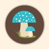 Wektorowych bedłek pieczarek projekta ilustraci EPS 10 Płaski logo Obrazy Stock
