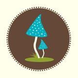 Wektorowych bedłek pieczarek projekta ilustraci EPS 10 Płaski logo Zdjęcia Stock