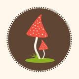Wektorowych bedłek pieczarek projekta ilustraci EPS 10 Płaski logo Zdjęcie Stock