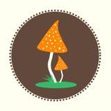 Wektorowych bedłek pieczarek projekta ilustraci EPS 10 Płaski logo Fotografia Royalty Free