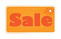 Wektorowych jaskrawych pomarańczowych cieni słowa wpisowa sprzedaż, malująca z muśnięciem na etykietce Obraz Stock