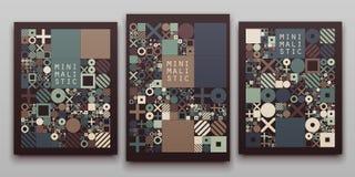 Wektorowych minimalnych pokryw proceduralny projekt Futurystyczny minimalistic układ Konceptualny generatywny tło dziennikarstwo ilustracja wektor