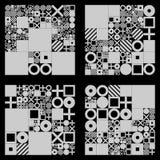 Wektorowych minimalnych pokryw proceduralny projekt Futurystyczny minimalistic układ Konceptualny generatywny tło dziennikarstwo royalty ilustracja