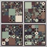 Wektorowych minimalnych pokryw proceduralny projekt Futurystyczny minimalistic układ Konceptualny generatywny tło dziennikarstwo ilustracji