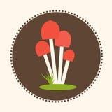 Wektorowych Miodowych bedłek pieczarek projekta ilustraci EPS 10 Płaski logo Zdjęcie Stock