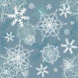 Wektorowych płatków śniegów bezszwowy tło Zdjęcie Stock