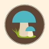 Wektorowych Porcini pieczarek projekta ilustraci EPS 10 Płaski logo Zdjęcie Royalty Free
