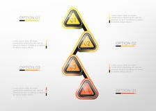 Wektorowych trójboków infographic szablon Fotografia Royalty Free