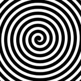 Wektoru ślimakowaty tło w czarny i biały Hipnoza temat element projektu abstrakcyjne ilustracja wektor