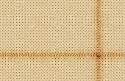 Wektoru światła tekstury dziurkowata rzemienna tapeta Realistyczny dziurkowaty tło z szwalną linią i nitem Beż kropkujący Zdjęcia Royalty Free