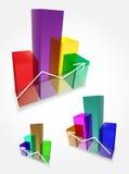 Wektoru 3d prętowi wykresy Zdjęcie Stock