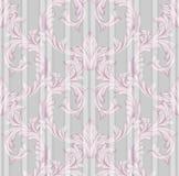 Wektoru adamaszka ornamentu rocznika tło Luksusowy różowy wystrój, tkanina, tkanina, płytki Zdjęcie Royalty Free