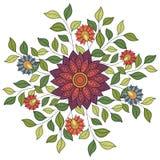 Wektoru Barwiony Kwiecisty tło ilustracja wektor