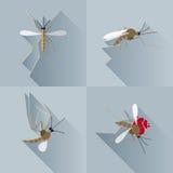 Wektoru cienia Długiego komara Nieżywa sylwetka Obraz Royalty Free