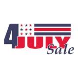 Wektoru czwarty Lipa usa dnia niepodległości sprzedaż Projekta szablon dla 4th Lipiec sprzedaż Odizolowywający na bielu Zdjęcia Stock