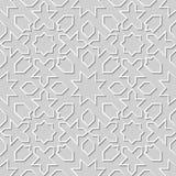 Wektoru 3D papieru sztuki wzoru adamaszkowi bezszwowi 003 tła geometrii Gwiazdowa linia ilustracji
