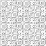 Wektoru 3D papieru sztuki wzoru adamaszkowi bezszwowi 025 tła geometrii Przecinający kalejdoskop ilustracja wektor