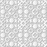 Wektoru 3D papieru sztuki wzoru adamaszkowi bezszwowi 072 tła Gwiazdowy kalejdoskop royalty ilustracja