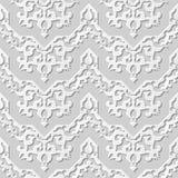 Wektoru 3D papieru sztuki wzoru adamaszkowi bezszwowi 033 tła kalejdoskopu Ślimakowata linia ilustracji