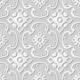 Wektoru 3D papieru sztuki wzoru adamaszkowi bezszwowi 010 tła Koszowy kalejdoskop royalty ilustracja