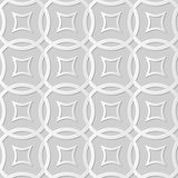 Wektoru 3D papieru sztuki wzoru adamaszkowi bezszwowi 043 tła krzyża Round linia Obraz Royalty Free