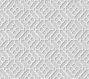 Wektoru 3D papieru sztuki wzoru adamaszkowi bezszwowi 312 tła krzywy krzyża Round rama Fotografia Royalty Free