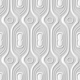 Wektoru 3D papieru sztuki wzoru adamaszkowi bezszwowi 065 tła krzywy Round linia ilustracji