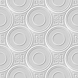 Wektoru 3D papieru sztuki wzoru adamaszkowi bezszwowi 016 tła kwadrata krzyża Round łańcuch ilustracji