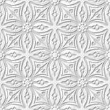 Wektoru 3D papieru sztuki wzoru adamaszkowi bezszwowi 077 tła kwiatu Przecinający kalejdoskop ilustracji
